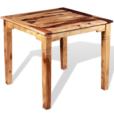 "vidaXL Dining Table Solid Sheesham Wood 32.3""x31.5""x30""[3/8]"
