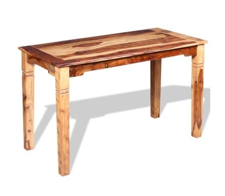 vidaXL Masă de bucătărie, lemn masiv de sheesham, 120 x 60 x 76 cm