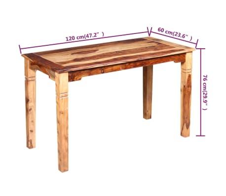 acheter vidaxl table de salle manger bois massif de sesham 120 x 60 x 76 cm pas cher. Black Bedroom Furniture Sets. Home Design Ideas