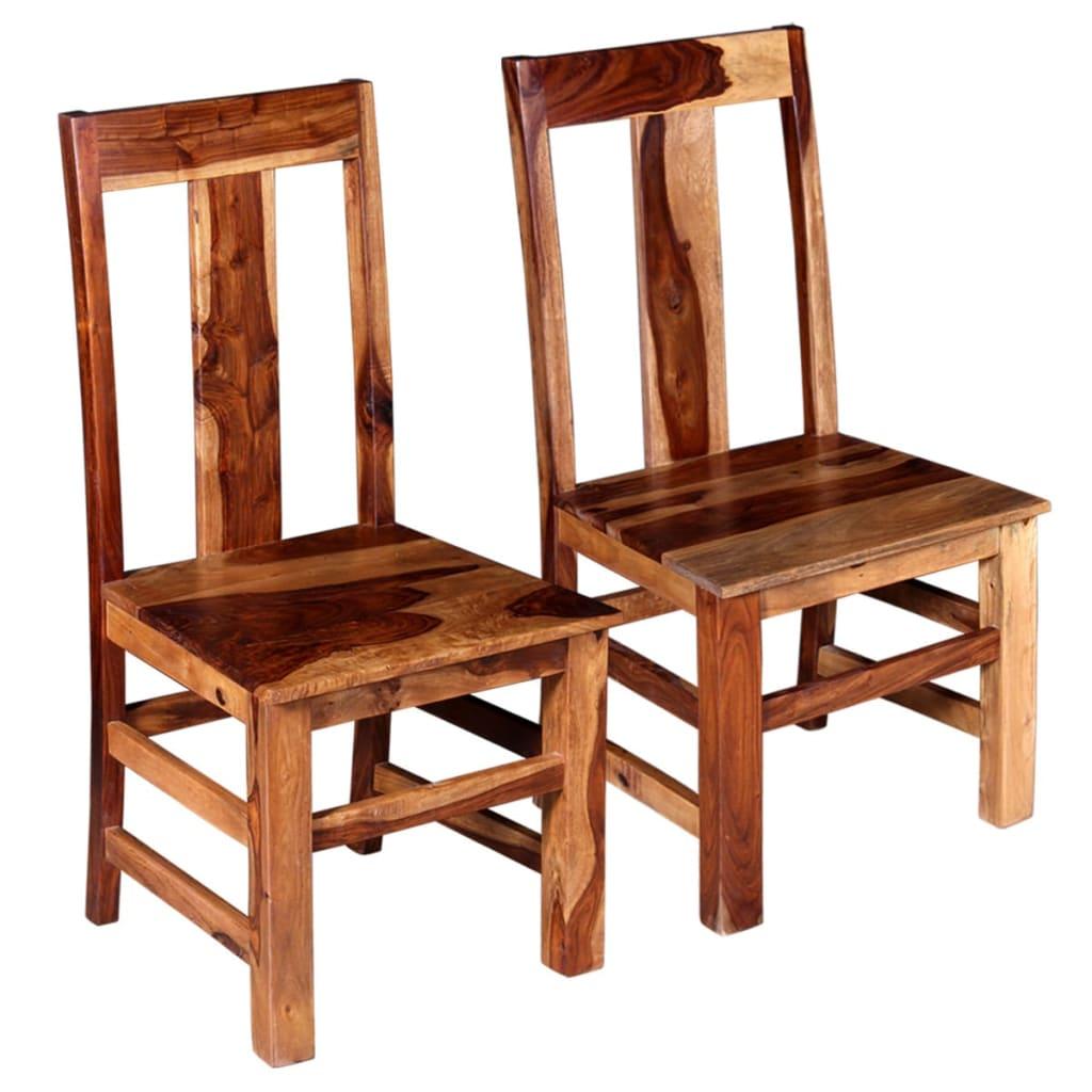 vidaXL Καρέκλες Τραπεζαρίας 2 τεμ. από Μασίφ Ξύλο Sheesham