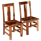 vidaXL Трапезни столове, 2 бр, масивно шишамово дърво