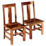 vidaXL Dining Chairs 2 pcs Solid Sheesham Wood