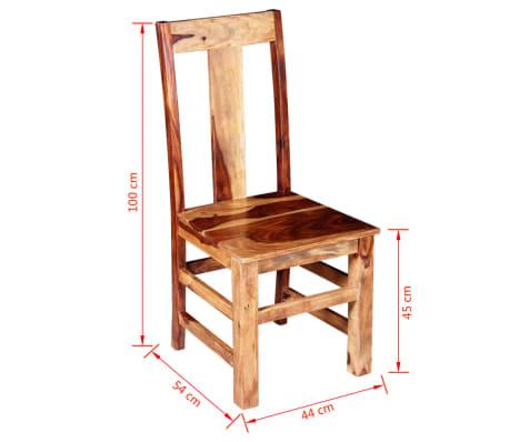 vidaXL Blagovaonske Stolice 2 kom Masivno Sheesham Drvo[11/11]