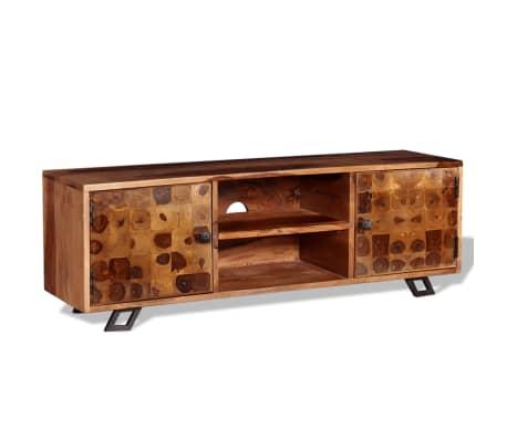 vidaXL TV stolík z masívneho sheeshamového dreva, 120x30x40 cm