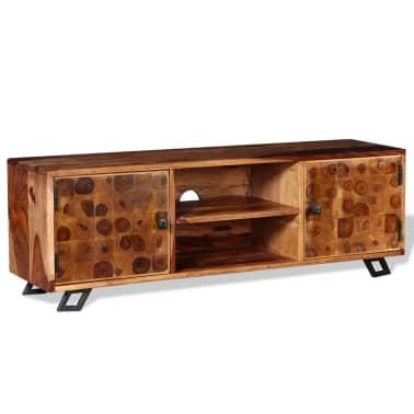 vidaXL TV spintelė, tvirta rausvosios dalbergijos mediena, 120x30x40cm[2/11]