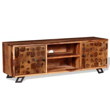 vidaXL TV spintelė, tvirta rausvosios dalbergijos mediena, 120x30x40cm[3/11]