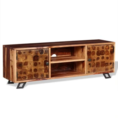 vidaXL TV spintelė, tvirta rausvosios dalbergijos mediena, 120x30x40cm[4/11]