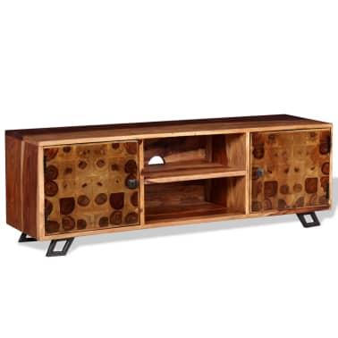 vidaXL TV spintelė, tvirta rausvosios dalbergijos mediena, 120x30x40cm[5/11]