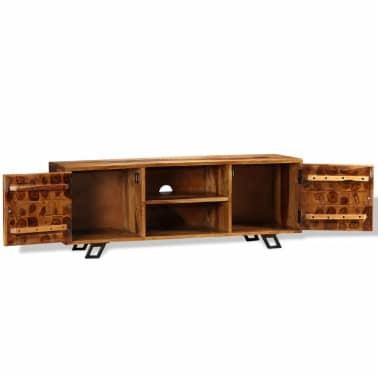 vidaXL TV spintelė, tvirta rausvosios dalbergijos mediena, 120x30x40cm[6/11]