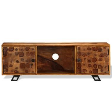vidaXL TV spintelė, tvirta rausvosios dalbergijos mediena, 120x30x40cm[8/11]