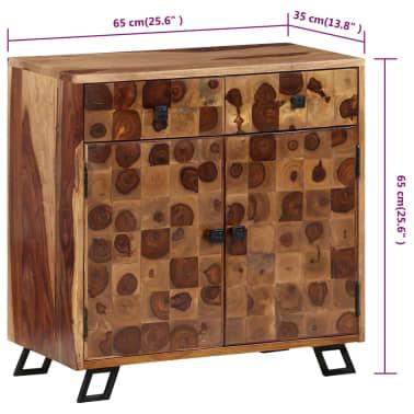 vidaXL Spintelė, tvirta rausvosios dalbergijos mediena, 65x35x65cm[9/10]