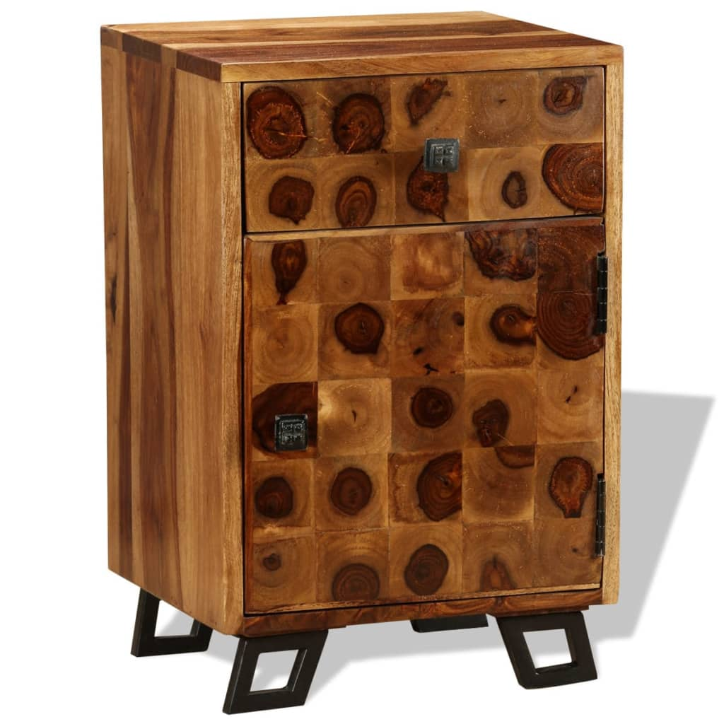 vidaXL Noptieră din lemn masiv de sheesham, 37 x 30 x 54 cm imagine vidaxl.ro