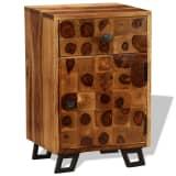 vidaXL Noptieră din lemn masiv de sheesham, 37 x 30 x 54 cm