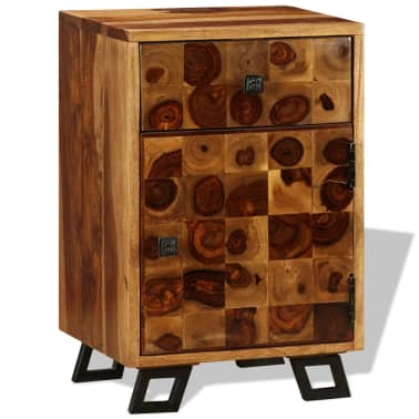 "vidaXL Nightstand Solid Sheesham Wood 14.6""x11.8""x21.3""[3/10]"
