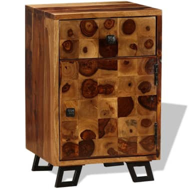 "vidaXL Nightstand Solid Sheesham Wood 14.6""x11.8""x21.3""[4/10]"