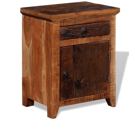 vidaxl bois d'acacia massif table de chevet bois de traverses table
