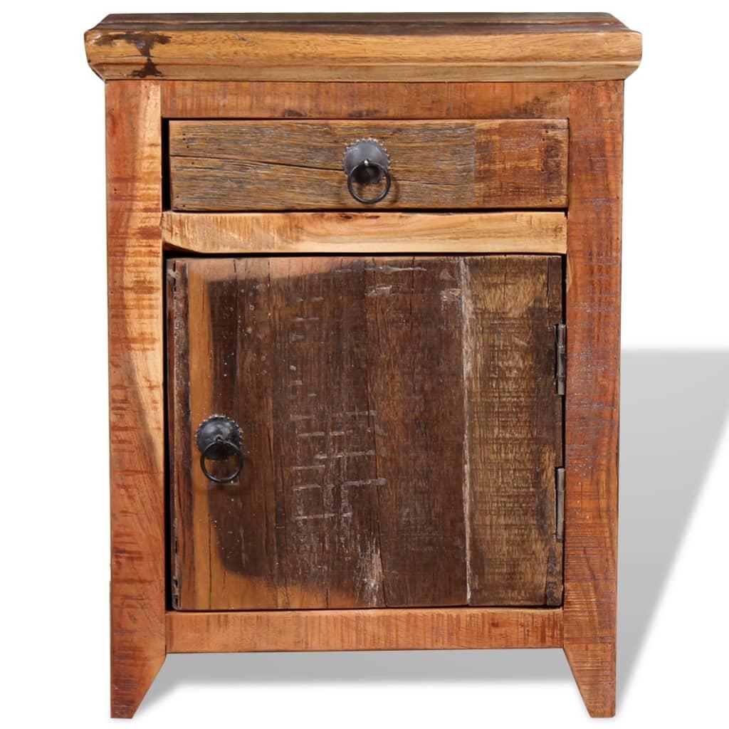 vidaXL Nachtkastje massief acaciahout en gerecycled hout