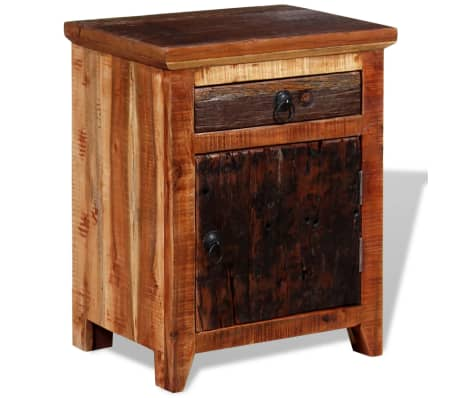 vidaXL Nightstand Solid Acacia Sleeper Wood[4/10]