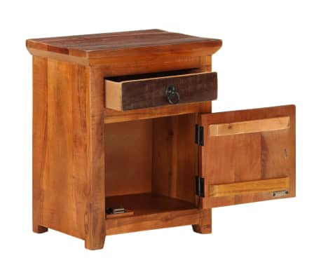 vidaXL Nightstand Solid Acacia Sleeper Wood[6/10]