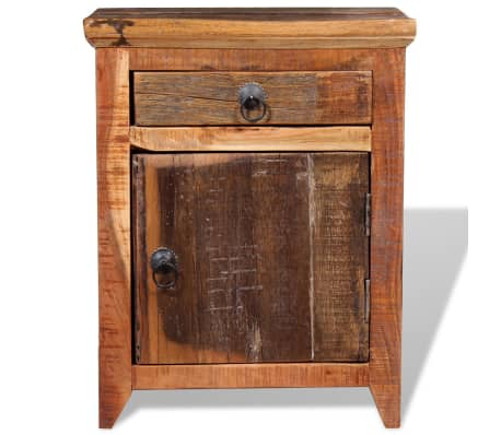 vidaXL Nightstand Solid Acacia Sleeper Wood[7/10]