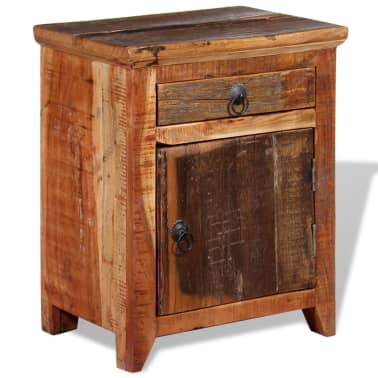 vidaXL Nightstand Solid Acacia Sleeper Wood[3/10]