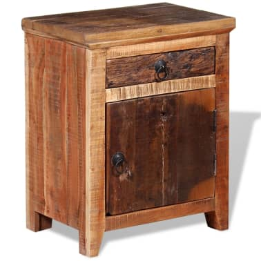 vidaXL Nightstand Solid Acacia Sleeper Wood[5/10]