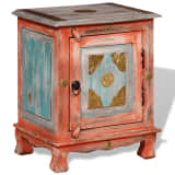 vidaXL Nightstand Solid Mango Wood Orange