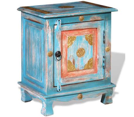 acheter vidaxl table de chevet bois de manguier massif. Black Bedroom Furniture Sets. Home Design Ideas