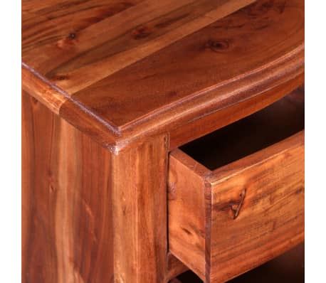 vidaXL Nightstand with Drawers Solid Acacia Wood[8/10]
