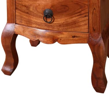 vidaXL Nightstand with Drawers Solid Acacia Wood[9/10]