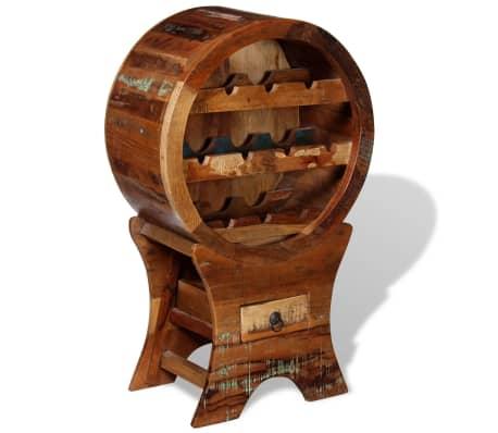 vidaXL Wine Rack for 10 Bottles Solid Reclaimed Wood[7/10]