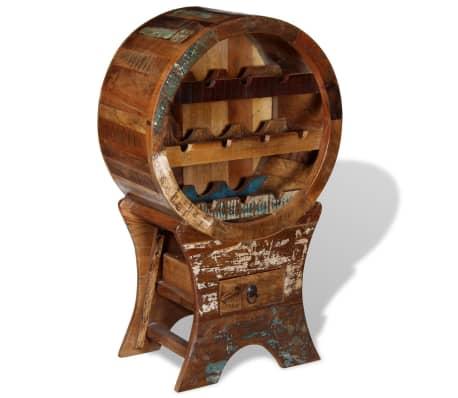 vidaXL Wine Rack for 10 Bottles Solid Reclaimed Wood[8/10]