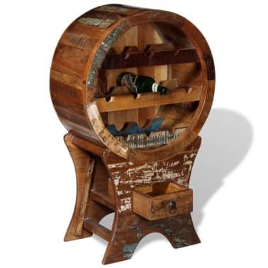 vidaXL Wine Rack for 10 Bottles Solid Reclaimed Wood[2/10]