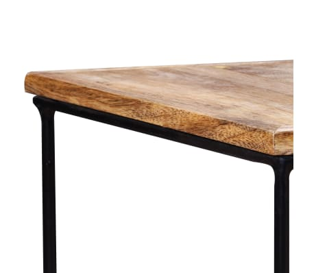 "vidaXL Coffee Table Solid Mango Wood 18.9"" x18.9""x15.7""[14/15]"