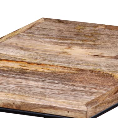 "vidaXL Coffee Table Solid Mango Wood 18.9"" x18.9""x15.7""[11/15]"