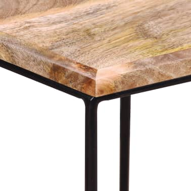 "vidaXL Coffee Table Solid Mango Wood 18.9"" x18.9""x15.7""[12/15]"