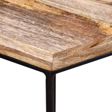 "vidaXL Coffee Table Solid Mango Wood 18.9"" x18.9""x15.7""[8/15]"
