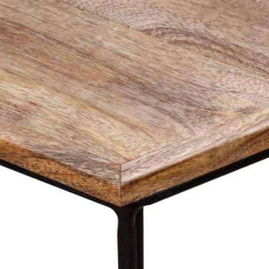 "vidaXL Coffee Table Solid Mango Wood 18.9"" x18.9""x15.7""[9/15]"