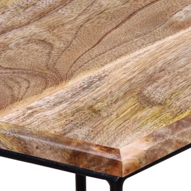 "vidaXL Coffee Table Solid Mango Wood 18.9"" x18.9""x15.7""[10/15]"