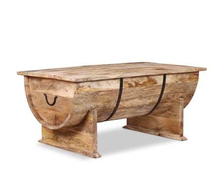 """vidaXL Coffee Table Solid Mango Wood 34.6""""x19.7""""x15.7""""[2/14]"""