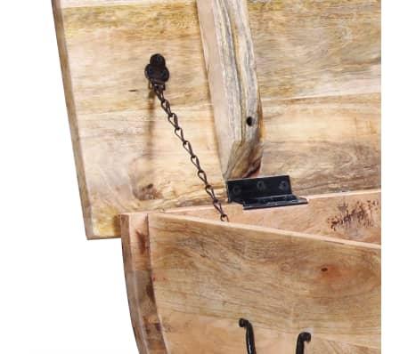 """vidaXL Coffee Table Solid Mango Wood 34.6""""x19.7""""x15.7""""[9/14]"""