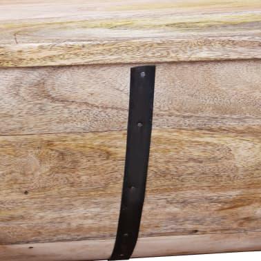 """vidaXL Coffee Table Solid Mango Wood 34.6""""x19.7""""x15.7""""[12/14]"""