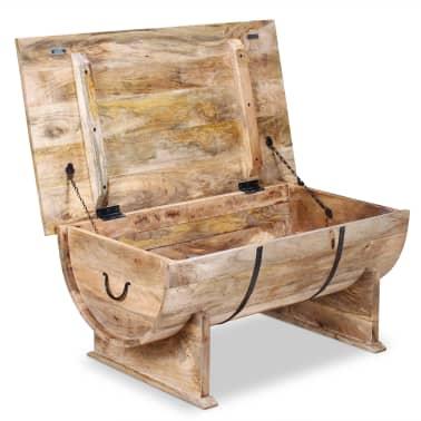 """vidaXL Coffee Table Solid Mango Wood 34.6""""x19.7""""x15.7""""[7/14]"""