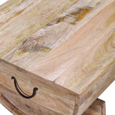 """vidaXL Coffee Table Solid Mango Wood 34.6""""x19.7""""x15.7""""[10/14]"""