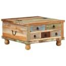 """vidaXL Coffee Table Reclaimed Wood 27.6""""x27.6""""x15"""""""