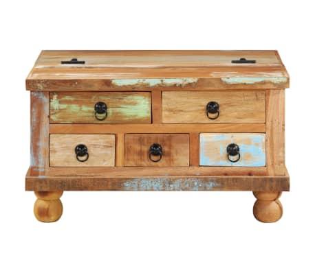 vidaXL Kavos staliukas, perdirbta mediena, 70x70x38cm[2/13]