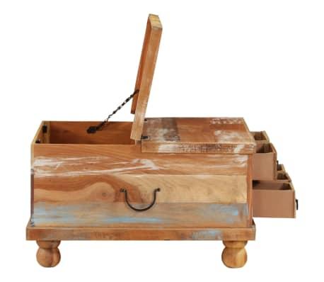 vidaXL Kavos staliukas, perdirbta mediena, 70x70x38cm[3/13]