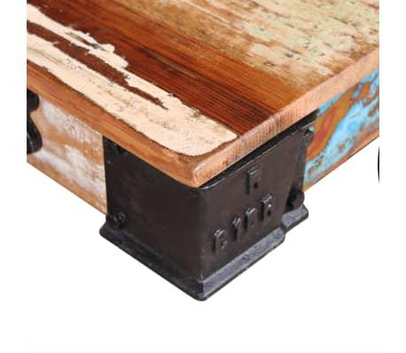 acheter vidaxl table basse bois de r cup ration 90 x 45 x 35 cm pas cher. Black Bedroom Furniture Sets. Home Design Ideas