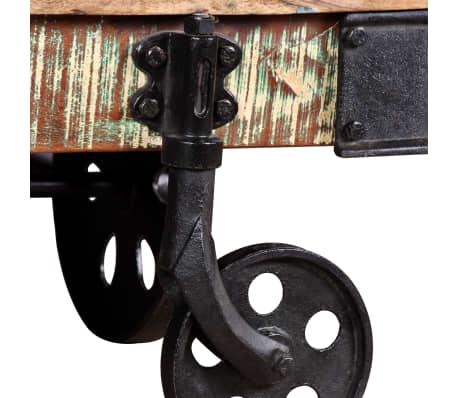 vidaXL Kavos staliukas, masyvi perdirbta mediena, 90x45x35cm[8/8]