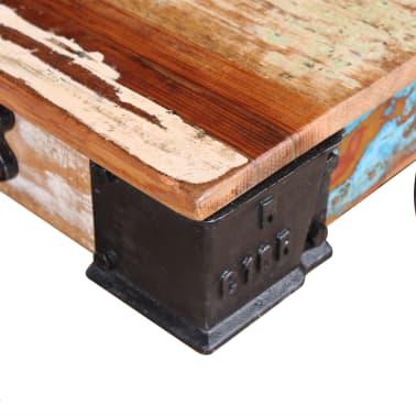 vidaXL Kavos staliukas, masyvi perdirbta mediena, 90x45x35cm[7/8]